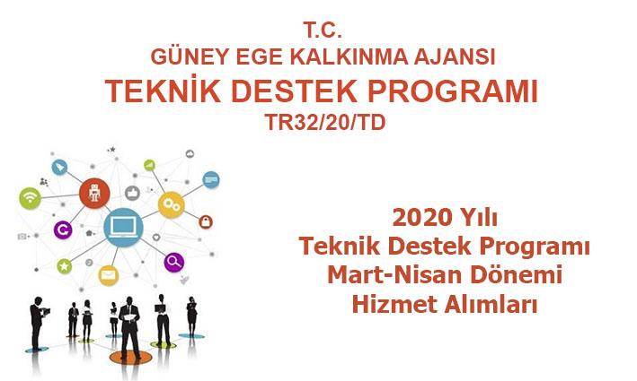 2020 Yılı Teknik Destek Programı  2. Dönem (Mart-Nisan) Hizmet Alımları Güncellenen Şartnameler