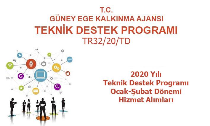 2020 Yılı Teknik Destek Programı  1. Dönem (Ocak-Şubat) Hizmet Alımları