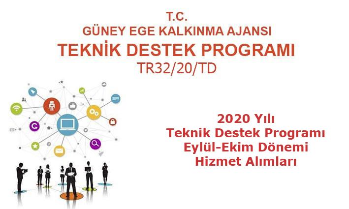 2020 Yılı Teknik Destek Programı  5. Dönem (Eylül-Ekim) Hizmet Alımları
