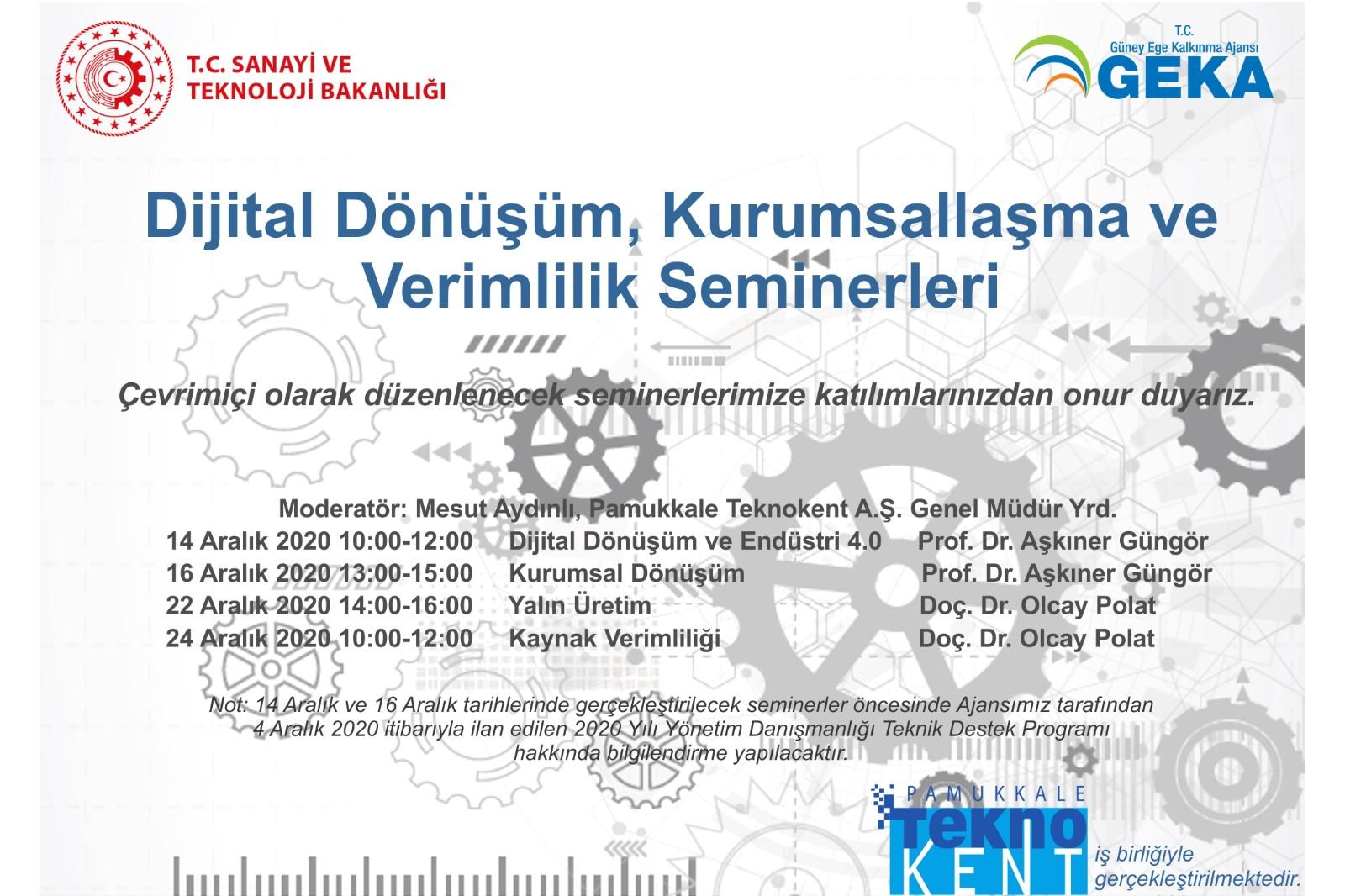 """""""DİJİTAL DÖNÜŞÜM, KURUMSALLAŞMA VE VERİMLİLİK"""