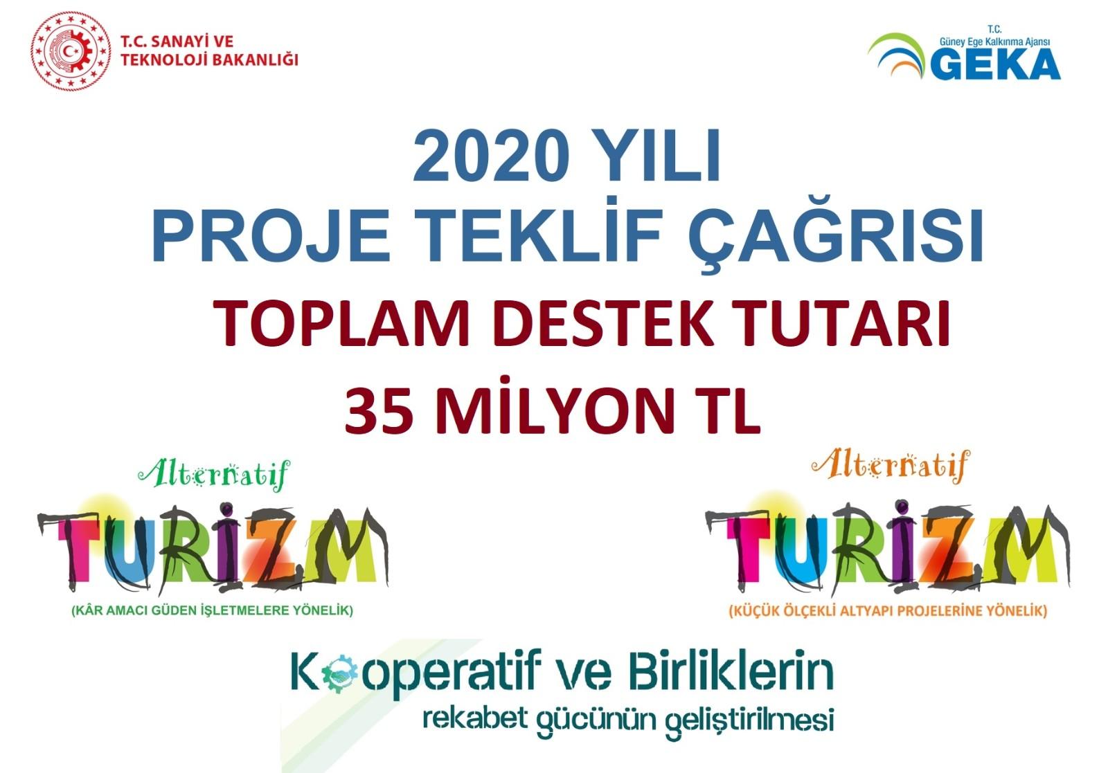 2020 Yılı Proje Teklif Çağrısı toplam 35 Milyon TL bütçe ile ilan edilmiştir
