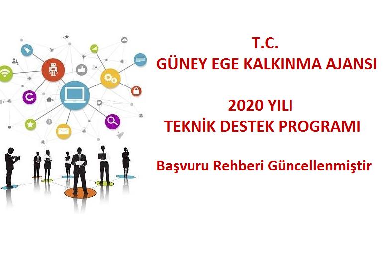 2020 Yılı Teknik Destek Programı Başvuru Rehberi güncellenmiştir