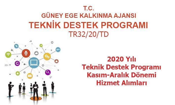 2020 Yılı Teknik Destek Programı  6. Dönem (Kasım-Aralık) Hizmet Alımları