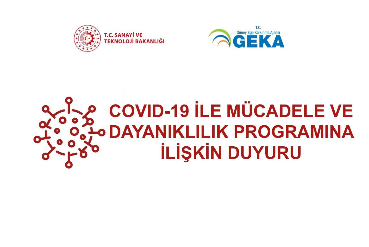 COVID-19 ile Mücadele ve Dayanıklılık Programına ilişkin duyuru